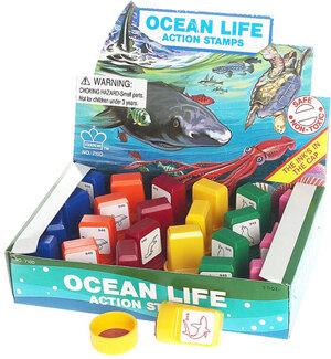 Ozean-Tier-Stempel klein HLD710D 24 Stück sortiert 63130010