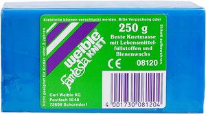 Weible Spiele Blockknete 250 g, blau 110x55x38 mm, trocknet nicht aus 63230130