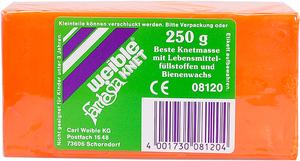Weible Spiele Blockknete 250 g, orange 110x55x38 mm, trocknet nicht aus 63230140