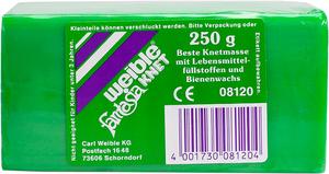 Weible Spiele Blockknete 250 g, grün 110x55x38 mm, trocknet nicht aus 63230150