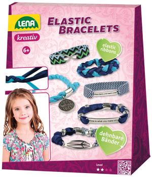 LENA Bastelset Elastic Bracelets Material für 5 Armbänder, mit Anleitung, ab 6 Jahren 63742651