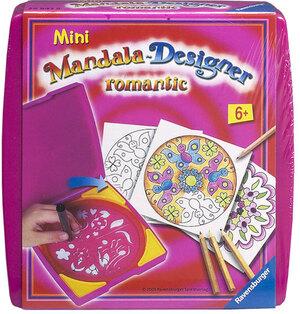 Ravensburger Mandala Mini, Romantic ab 6 Jahren, d/f/i, Mandala Box für unterwegs 29947