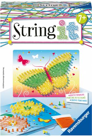 Ravensburger String it Mini Butterflies Fadenbilder, 2 Motive, Pins und Spannfaden inkl. ab 7+ 64718034