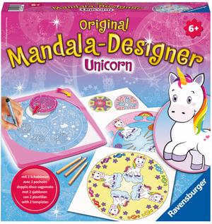 Ravensburger Mandala Midi Unicorn, d/f/i ab 6 Jahren, 2 Schablonen für noch mehr Möglichkeiten 64729703