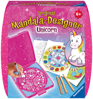 Ravensburger Mandala Mini Unicorn, d/f/i Mandala Box für unterwegs ab 6 Jahren 64729704