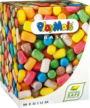 Playmais Basic Medium 300 Stück, bunt assortiert, mit Anleitung u. Zubehör 64760024