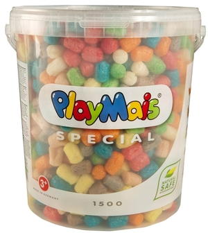 Playmais Special 1500 1500 Stück im Eimer ass. mit Anleitung u. Zubehör 64760028