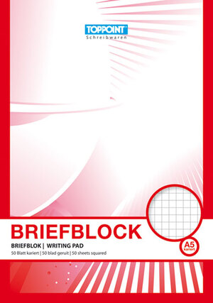 Briefblock A5, kariert 65040026