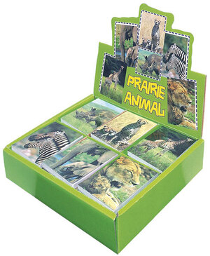 Notizblock Wildlife 8x6 cm, 6-fach (eines wird geliefert assortiert, im Display 65610562