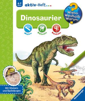 Ravensburger Dinosaurier, Aktiv-Heft Wieso? Weshalb? Warum? ab 4 Jahren, 24x27 cm 66232696