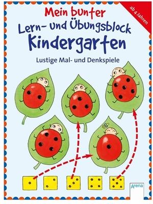 Arena Lernblock Kindergarten Mal- und Denkspiele, 20x15 cm, 80 Seiten, ab 4+ 66316045