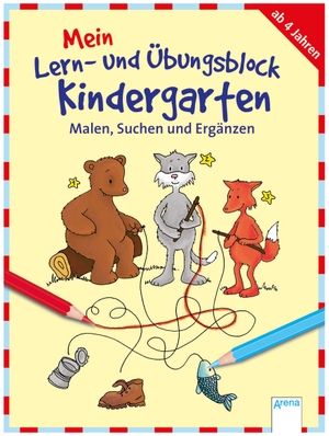 Arena Mein Lern- und Übungsblock Kindergarten, 80 Seiten, 20x15 cm, ab 4+ 66319683