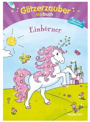 Arena Malbuch Einhörner Glitzer- zauber, 32 Seiten, 28x20 cm, ab 5 Jahren 66323585