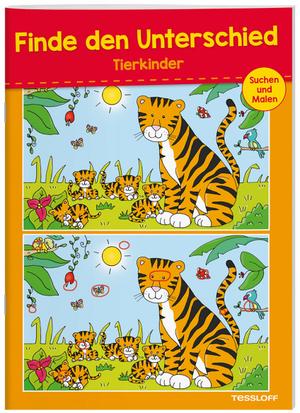 Tessloff Finde den Unterschied Tier- kinder, 28x20 cm, 32 Seiten, Suchbilder mit Lösungen, 6+ 66396098
