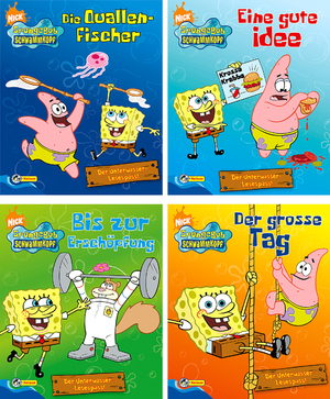 Mini-Bücher Sponge Bob 4-fach (eines wird geliefert ass. 12x10 cm 66540400