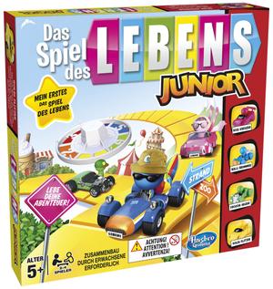 Hasbro Spiel des Lebens Junior, d ab 5 Jahren, 2-4 Spieler, im Vergnügungspark 67100654