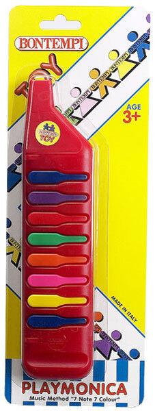 Harmonika rot mit 8 Tasten, 26 cm, Kunststoff, ab 3 Jahren 68490833