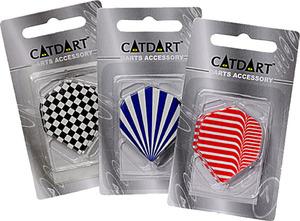 Bex Sport Dart Flights glatt Polyester 3-fach (eines wird geliefert assortiert, schwarz, rot, blau 72130010