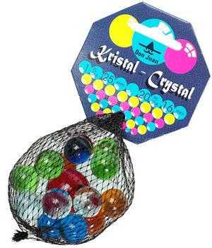 Kuenen Murmeln Kristall 20x16 mm, 1x25 mm, Glas, im Netz 72250116