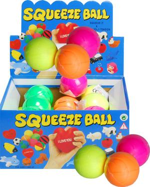 Antistress Ball Color 4-fach (eines wird geliefert assortiert, orange, pink, grün, gelb, Neonfarben 73544521