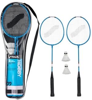 Stiga Badminton Set Hobby HS 2 Schläger, 2 Shuttles, in Tragtasche 74110112