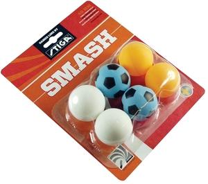 Stiga Tischtennisbälle Smash, bunt 6 Stück, 2 x weiss, 4 x bunt 74408506