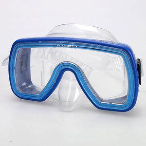 Tauchermaske Onda blau für Jugendliche, mit Sicherheitslinse 77210008