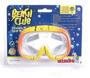 Simba Tauchermaske ab 3 Jahren Sicherheitsglas 2-fach (eines wird geliefert sort. orange, türkis 77210605