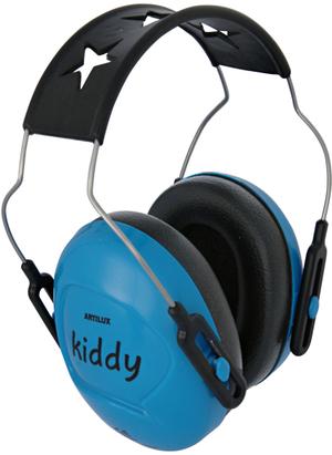 Kiddy Kindergehörschutz himmelblau verstellbar, 169 g, Schalldämmung 24 dB, ab 3+ 80100212