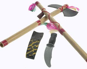 FRIES Party-Chic Indianerset Bambus 3-teilig Beil, Messer, Friedenspfeife 80308648