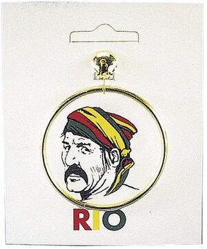 Ohrringe rund Pirat, gold ø 5.5 cm, SB-Karte 80510501