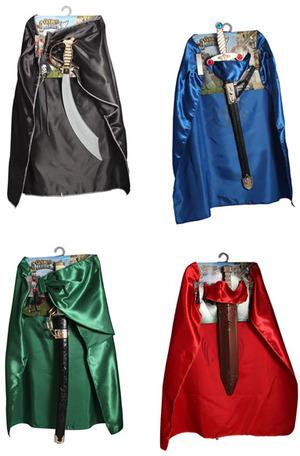 GIPLAM Helden Set, 4-fach (eines wird geliefert ass. Pirat, Römer, Samurai und König, Umhang mit Sch 81025879