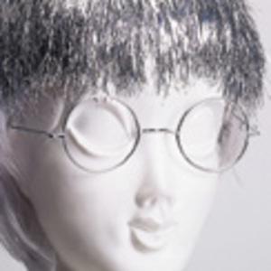 RUBIE'S Brille Grossmutter rund, silber 81849235