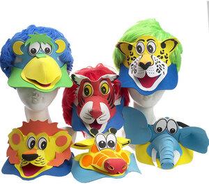 Maske Tierkappe Kind 6-fach (eines wird geliefert sortiert 81920076