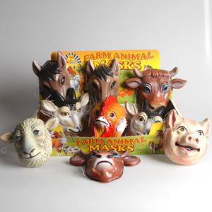 Smiffy's Maske Tiere Bauernhof Plastik, assortiert Kindergrösse 81920840