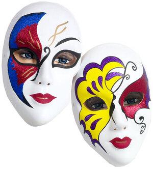 Festartikel Müller Maske Venezianisch Glitter assortiert, Plastik 81940747