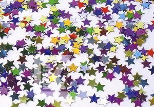 Konfetti Sterne bunt 11mm 10g/Beutel 82705507