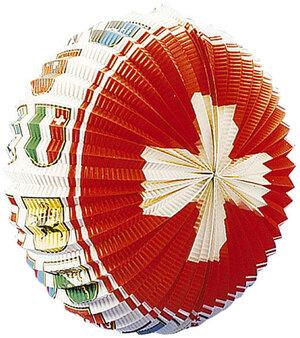 Kurt Hauser Lampion Schweiz Radform ø 38 cm, mit Kantonswappen, schwer entflammbar 83010009