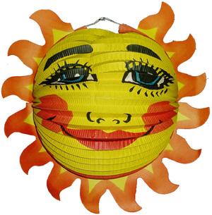 Diverse Lampion Sonnenstrahlen rund ø 33 cm, schwer entflammbar 83010077