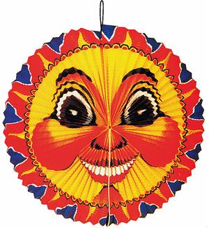 Kurt Hauser Lampion oval Sonne 40 cm schwer entflammbar 83010104