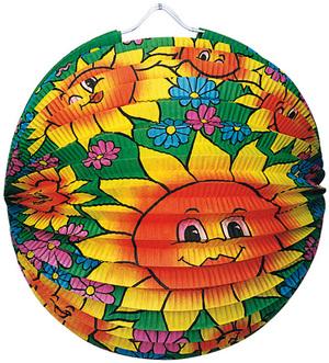 Lampion Sommerblumen rund ø 25 cm, schwer entflammbar 83010130