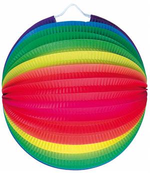 Kurt Hauser Lampion Regenbogen rund ø 25 cm, schwer entflammbar 83010144