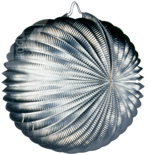 Kögler Lampion rund, silber, 24cm schwer entflammbar, metallic 83010430