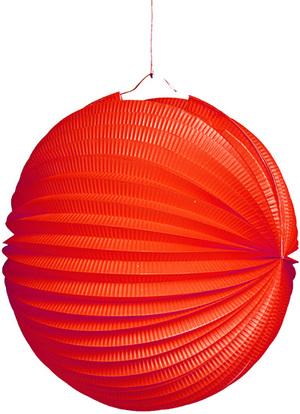 TIB Heyne Lampion rot, rund, ø 25 cm schwer entflammbar, lose 83013003