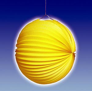 TIB Heyne Lampion gelb, rund, ø 25 cm schwer entflammbar, lose 83013005