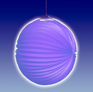 TIB Heyne Lampion blau, rund, ø 25 cm schwer entflammbar, lose 83013007