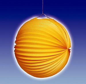 TIB Heyne Lampion orange rund, ø 25 cm schwer entflammbar, lose 83013011