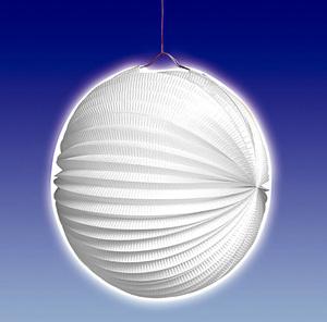 TIB Heyne Lampion weiss, rund, ø 25 cm schwer entflammbar, lose 83013013