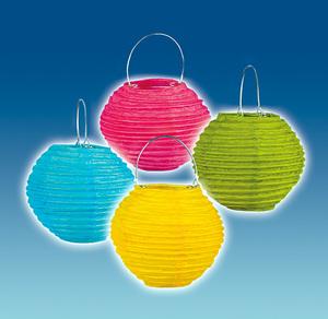 TIB Heyne Lampion mit Teelicht-Halter rund, 4-er Set assortiert, 10 cm, schwer entflammbar 83013305