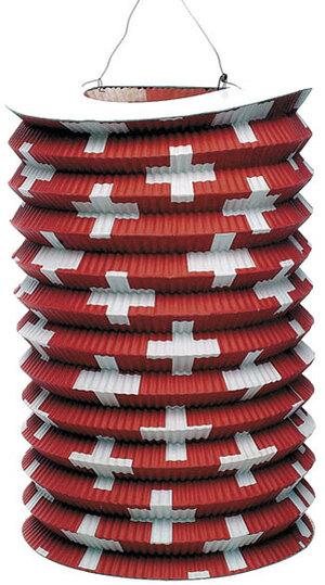 Kurt Hauser Zuglampion Schweizerkreuze 25 cm, kleine Kreuze, schwer entflammbar 83030033